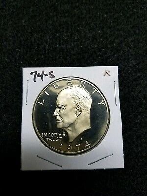 Toning 1974-S Proof Ike Dollar,,,from Us Proof Set