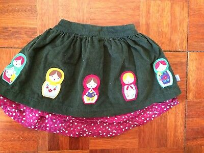 Little Bird Jools Oliver Green Russian Doll Appliqué Skirt.Size 9 - 12 Months.