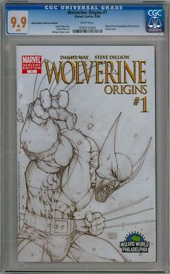 Wolverine Origins #1 Cgc 9.9 Michael Turner Wizard World Sketch Variant Marvel