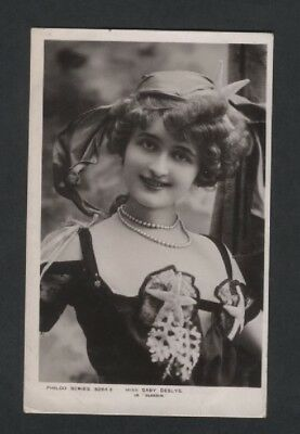Edwardian Theatre Actress,singer.miss Gaby Deslys.pub Philco Ref3264 F.used 1906