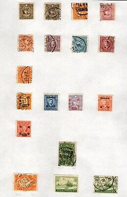 Stamps ~ CHINA CHINESE Lovely POSTMARKS ~ Early ELEVEN PAGES