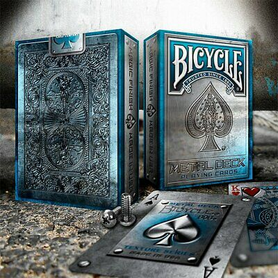Bicycle Metal Blue Playing Cards Poker Spielkarten