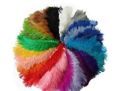 """Pack of 10 Ostrich Feathers 8-10"""" ,10-12 """" Craft FancyDress Sewing Millinery"""