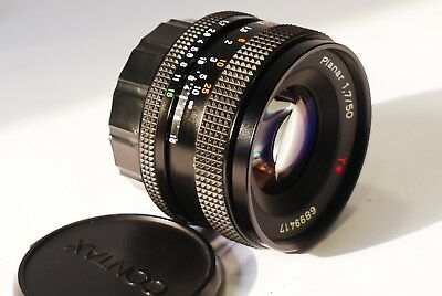 Carl Zeiss Planar 50mm f/1.7 T* MM lens, Exc+, Contax C/Y mount 1.7/50