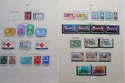 XL2987: Collection of Mint Fiji Stamps (1963 - 66).