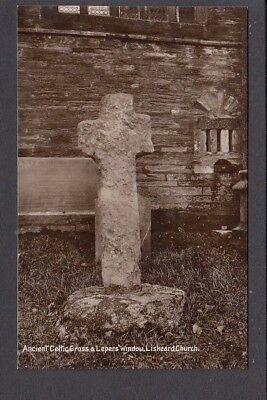 Cornwall - Liskeard Church & Ancient Celtic Cross & Lepers Window - RP