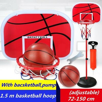 Height Adjustable Kids Mimi Basketball Hoop Rim Net Set Basket Ball Backboard AU