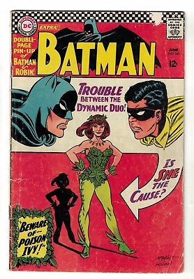 Batman 181 Dc comics poison Ivy 1st appearance inc Pin up poster VG 4.0