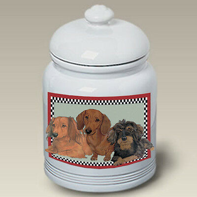 Ceramic Treat Cookie Jar - Dachshund Trio (2) (PS) 52803