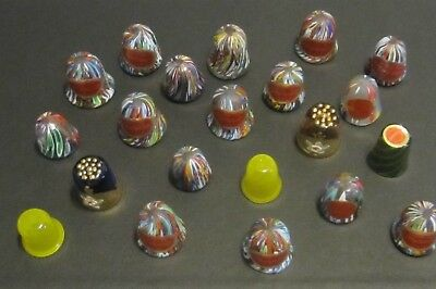 Lot Of 23 Murano Thimbles - Mint