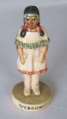 "Webcowit Squaw with Papoose 2.75"" Chalk Figurine"
