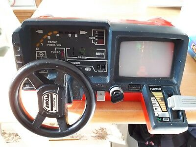 Vintage 1980s Tomy Turnin' Turbo Dashboard Racing Car Driving Game Tested