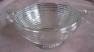 "Anchor Hocking Manhattan Horizontal Ribbed 9"" Handled Salad Bowl"