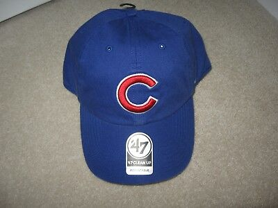 Bnwt 47 Brand Chicago Cubs Clean Up Adjustable Baseball Cap One Size Blue Xmas