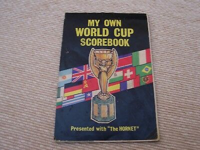Original Old 1966 World Cup Scorebook