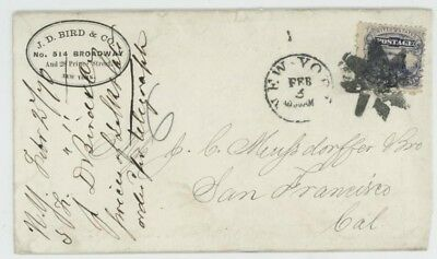 Mr Fancy Cancel 114 FANCY CANCEL COVER TIED EIGHT POINT STAR ST-8P2 NYC CO. CC
