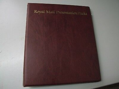 Royalmail Presentation Packs Album Holds 68 Packs Good Condition!!!!!!!!!!!