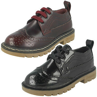 Wholesale Girls Lace Up Brogue Shoes / 16 Pairs / Sizes 10-2 / H2465