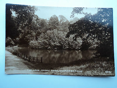 Vintage B&W RP PC The Lake, Danny Park, Hurstpierpoint. Sussex. Unposted.
