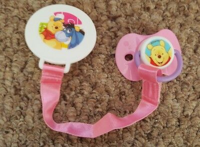 Reborn Baby Girl Winnie The Pooh Customised Magnetic Dummy & Matching Dummy Clip