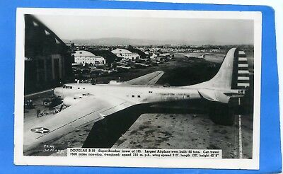 Douglas B-19 Super Bomber, real photo postcard, largest ever built at that time