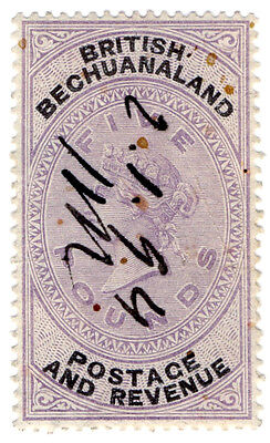 (I.B) British Bechuanaland Revenue : Duty Stamp £5