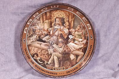 Antique Beer Tray Arrow Beer Globe Brewery Gambrinus King Of Lager, Columbus O?