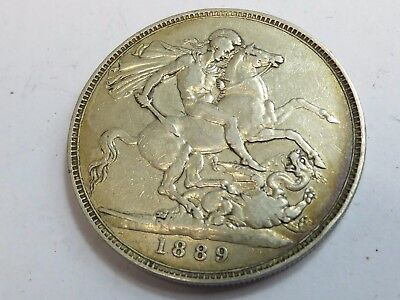 1889 GB crown coin
