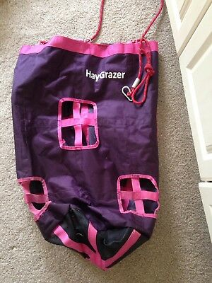 HayGrazer Bag in Pink. great for box rest! Ideal For Stable/Trailer/Lorry Etc