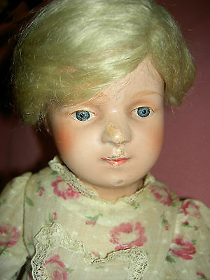 "16"" antique Schoenhut, fully jointed wood doll, incised signature, 300 series"