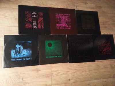 """Sisters Of Mercy - 1 X Lp + 6 X 12"""" Goth Punk  Record Collection"""