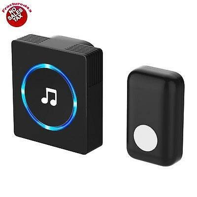 Wireless Door Bell Plug In Chime One Loud Long Range Front Cordless Home Office