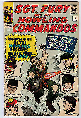 Sgt. Fury #12 7.5 White Pages Silver Age
