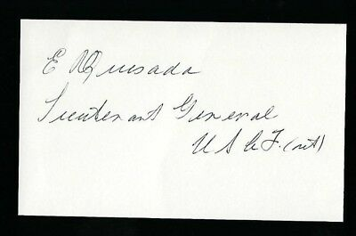 Elwood Quesada signed 3x5 card Military USAF Lt. General, FAA Administrator