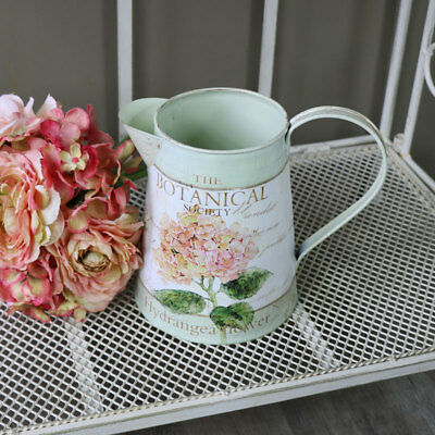 Ornamental metal jug vase flower shabby French chic vintage country gift home