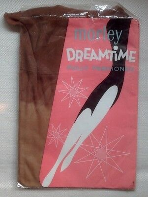 1960s MORLEY DREAMTIME FF seamed nylon stockings 9, dark tan
