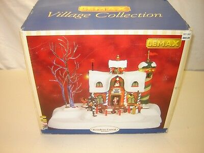 LEMAX Christmas Village Lighted w/ Sound House Reindeer Corral 3 pcs As Pictured