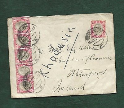 South Africa 1903 old cover with Edward VII Transvaal Stamps - Waterford Ireland