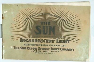Early 1900 Sun Vapor Street Light Company Catalog Incandescent Lights