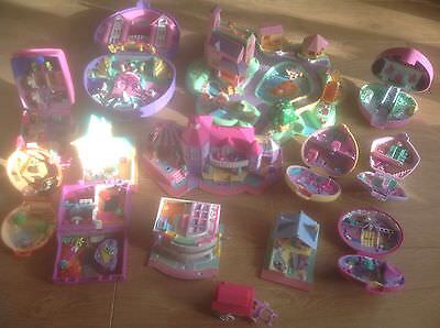13 Assorted Vintage Polly Pocket Items Dream World & Others