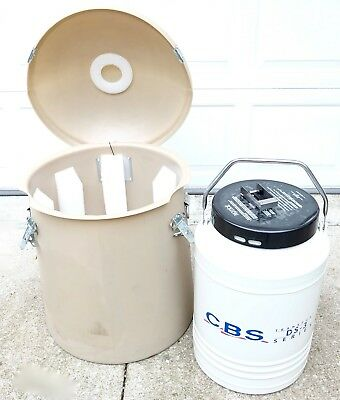 CBS Transport DS-3 10L Cryogenics Tank Dry LN2 Liquid Nitrogen Vapor Shipper