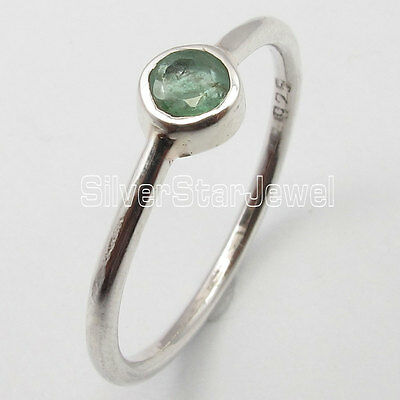 .925 Pure Silver Hot Selling GREEN EMERALD EXTRA ORDINARY Ring Any Size 5 to 10
