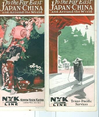 1930s NYK Steamship Line Cruises to Far East, Japan, China