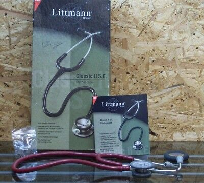 LITTMANN Classic II S E Stethoscope Burgandy 3M with Box