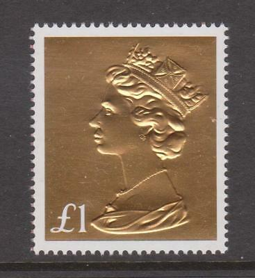 GB 2017 Gold Foil Machin Anniversary £1 Definitive~Unmounted Mint~Stamp~UK
