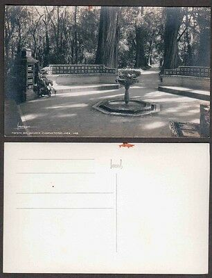 Old Mexico Real Photo Postcard - Chipultepec, Fountain - RPPC