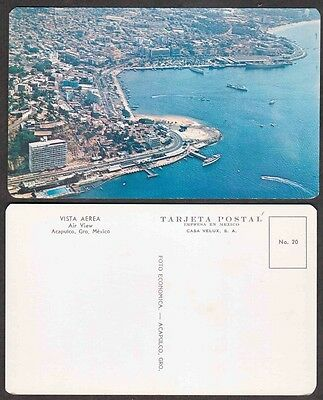 Old Mexico Postcard - Aerial View of Acapulco
