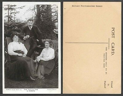 Theatre Actress Photo Postcard - Miss Phyllis Dare and Parents