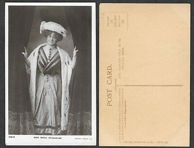 Theatre Actress Photo Postcard - Marie Studholme - Rotary #249R
