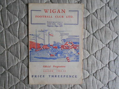 Wigan V St Helens Rugby League Match Programme April 1955